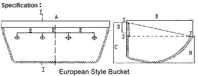 split bucket bottomless bucket european style bucket
